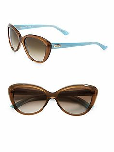 Kate Spade New York Angelique Two-Tone Plastic Cats-Eye Sunglasses