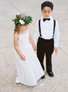 Greenery flower girl crown: http://www.stylemepretty.com/washington-dc-weddings/2016/12/29/stunning-lace-dress/ Photography: Simply Sarah - http://simplysarah.me/