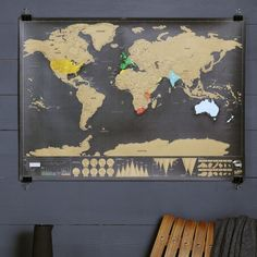 Scratch off push pin world map bundle gift future and stuffing deluxe scratch world map gumiabroncs Gallery