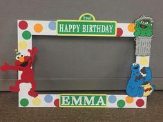 Large Sesame Street photo booth frame