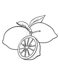 Lemons fruits coloring pages for kids, printable free Lam ...
