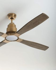 Shop Ricasso Indoor Ceiling Fan at Horchow, where you'll find new lower shipping on hundreds of home furnishings and gifts. Double Ceiling Fan, Brass Ceiling Fan, Ceiling Lights, Ceiling Decor, Living Room Ceiling Fan, Bedroom Ceiling, Living Room Fans, Tree Bedroom, Basement Ceiling Options