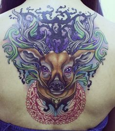 Neo Traditional Tattoo & Flash. Deer tattoo