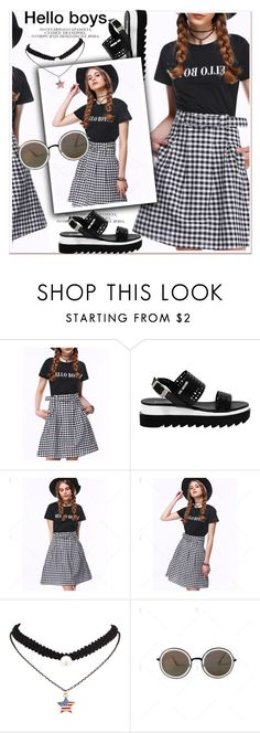 """""""hello boys"""" by paculi ❤ liked on Polyvore featuring Love Moschino"""
