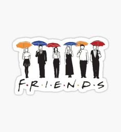 """""""Friends TV Show Umbrella """" Stickers by tlaprise Friends Tv Show, Tv: Friends, Friends Series, Tumblr Stickers, Phone Stickers, Cool Stickers, Printable Stickers, Craft Stickers, Vsco"""