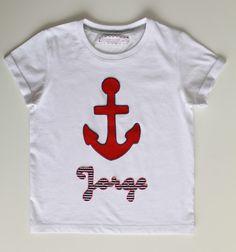 cocodrilova: camiseta marinera para Jorje #camiseta #marinera #ancla