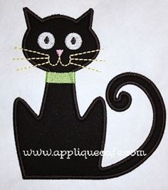 Black cat applique