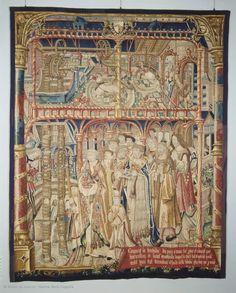 Atelier de Jean SAUVAGE  Tenture de saint Anatoile de Salins : Miracle de l'eau  1502 - 1506  Bruges  Tapisserie : laine et soie  Acquis de la ville de Salins sur le legs Audéoud, 1914    Musée du Louvre   Paris