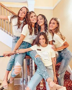 Chi Omega go Greek sorority bid day recruitment spirit week work week college back to school fun celebrate recruitment style women's style denim