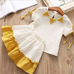 Kids Dressy Clothes, Stylish Dresses For Girls, Toddler Girl Dresses, Frock Design, Baby Dress Design, Kids Frocks Design, Baby Frocks Designs, Baby Girl Fashion, Kids Fashion