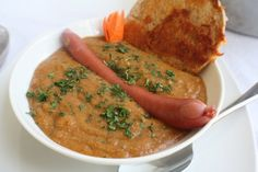 German Goodies Recipe Newsletter, July29, 2013 , In this edition, Lentil Soup with Frankfurter!