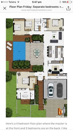 5 Wonderful Useful Tips: Contemporary Style Colors contempo Pool House Plans, Sims House Plans, House Layout Plans, Dream House Plans, Modern House Plans, Small House Plans, House Layouts, Small House Design, Modern House Design