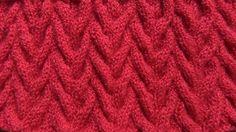Вязание узора спицами. Разносторонние жгуты.
