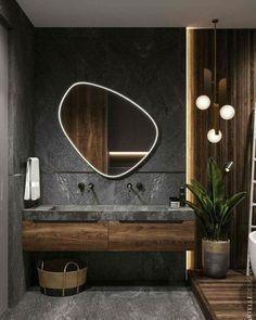 scandinavian interior design Badezimmer Inspiration // Cartelle Design All you need to know about Wh Bathroom Design Luxury, Home Interior Design, Interior Decorating, Modern Luxury Bathroom, Modern Bathroom Mirrors, Wooden Bathroom, Interior Colors, Modern Small Bathroom Design, Interior Ideas