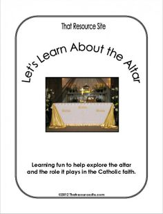 Let's Learn About the Altar Lesson Pack | Religious Education Resources for Teachers