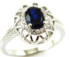 925 Sterling Silver 1.5ct Sapphire Ring Price $29.95