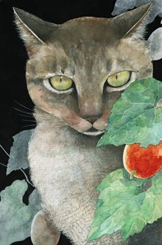 Grey cat by Midori Yamada