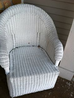 Paint Ideas: Prep Paint Wicker   Wicker Chairs/loveseat On The Front Porch.