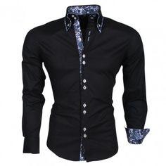 Carisma - Trendy Italiaans overhemd - Getailleerd - Zwart
