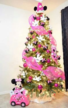 Most Creative Kids Christmas Trees 19 Most Creative Kids Christmas Trees. Minnie Mouse Inspired Tree Idea on Pretty My Most Creative Kids Christmas Trees. Minnie Mouse Inspired Tree Idea on Pretty My Party. Mickey Mouse Christmas Tree, Christmas Trees For Kids, Christmas Tree Themes, Noel Christmas, Holiday Tree, Pink Christmas, Christmas Crafts, Christmas Ornaments