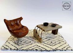 Casa de muñecas en miniatura 1//12th escala Emporium Mesa y 4 Sillas Negro O Blanco