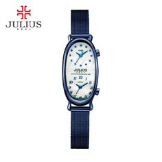 Julius Luxury Brand 2 Time Zone Ladies Rose Gold Quartz-Watch Women Bracelet Watches Casual Bangle Wristwatch JA-913 reloj mujer