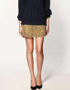 chunky knit & sequins