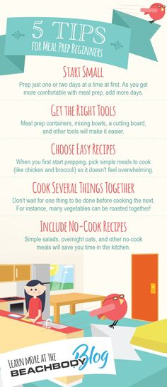 5 tips to meal prep success! meal prepping // best meal plans // easy recipes // no cook meal prep // 21 Day Fix // 21 Day Fix recipe // health tips // fitness tips // healthy eating // Beachbody // B(Easy Meal Prep No Cook) Tips For Meal Prepping, Meal Prep Guide, Easy Meal Prep, Healthy Food To Lose Weight, Get Healthy, Healthy Eating, Healthy Nutrition, Clean Eating, Fitness Tips