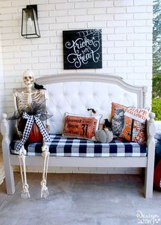 How I decorated my Halloween Patio for Home Depot's Halloween Style Challenge. See how I incorporated a fire breathing dragon into my decor! | Design Dazzle