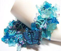 """""""Felisha's Paradise""""  Fringe bracelet by Fanceethat on Etsy"""