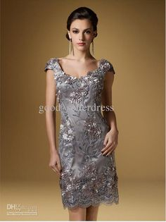 Wholesale 2013 Sexy Mother of the Bride Dresses Short jewel Embroidery Applique Lace Short Scoop Elegant Fashion New Arrival, $139.77/Piece | DHgate