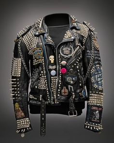 punk vest | punk # leather jacket # patches