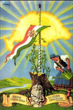 """""""Magyar legyen hited és lészen országod."""" (Hiszeke...   Képcsarnok   Hungaricana Eastern Europe, Hungary, Vintage Posters, Comic Books, Culture, Comics, History, Paper, Pictures"""
