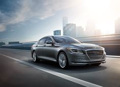 2016 Hyundai Genesis & Azera gets new features and pricing! - Car and Driver Cars For Tall People, 2015 Hyundai Genesis Sedan, Most Fuel Efficient Cars, Luxury Car Rental, Luxury Cars, Hyundai Cars, Hyundai Vehicles, Automotive Group, Car And Driver