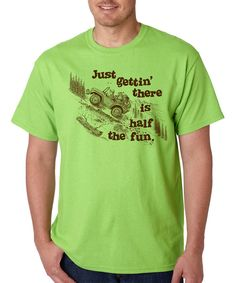 Look at this Lime 'Gettin' There Is Half the Fun' Tee on #zulily today!