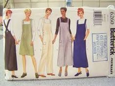 Image result for sewing pattern pinafore ladies