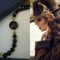 bceb5a085c44  joyería  autor  modelos  pulsera  ágata  chapa  anabassó  regalo  moda   diseñadora  mujer  femenino pulsera negra chapa de oro brazalete