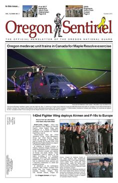 Oregon sentinel : the official newsletter of the Oregon National Guard, by the Oregon National Guard