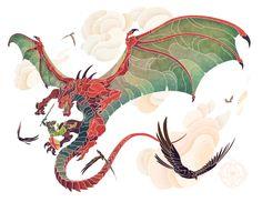 Descent by WesTalbott on deviantART Creature Concept Art, Creature Design, Fantasy Dragon, Fantasy Art, Fantasy Creatures, Mythical Creatures, Character Art, Character Design, Dragon Artwork