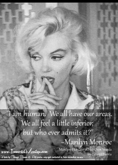 Real Marilyn Monroe quote with a source