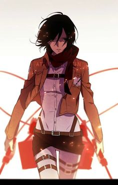 Mikasa Ackerman - SnK, Shingeki no Kyojin, AoT, Attack on Titan I Love Anime, Awesome Anime, Me Me Me Anime, Manga Anime, Manga Kawaii, Manga Girl, Armin, Accel World, Estilo Anime
