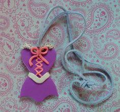 Rapunzel Corset Pendant  D024 by artsdaughter on Etsy