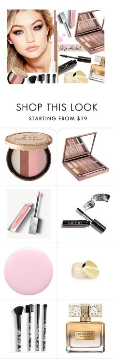 """""""Gigi Hadid beauty"""" by sunx2 ❤ liked on Polyvore featuring beauty, Maybelline, Too Faced Cosmetics, Urban Decay, Burberry, Bobbi Brown Cosmetics, Nails Inc., Torrid and Givenchy"""