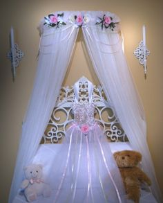 BED Canopy PRINCESS Naomi Pink Ivory Cream Girls By SoZoeyBoutique, $49.95
