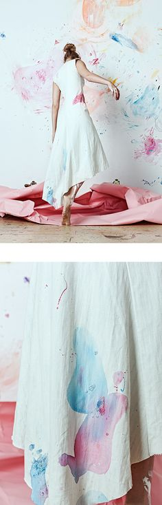 """""""Artist at Home"""" collection, a collaboration between designer by Olya Glagoleva and artist Lisa Smirnova"""