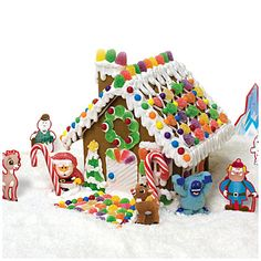 Fun for the whole family to do together! #BigLots  Rudolph The Red-Nosed Reindeer® Gingerbread House Decorating Kit at Big Lots.