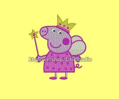 Peppa Pig Machine Embroidery Design  This design manually made by hand, from start to finish. It is a digitized embroidery design for a buyer who has an embroidery sewing machine.  https://www.etsy.com/listing/494360761/peppa-pig-machine-embroidery-design-5  #stitch #digitized #Sewing #Needlecraft #stitches #Embroidery #Applique #EmbroideryDesign #pattern #MachineEmbroidery  #cute #baby #animal #Peppa #Pig #PeppaPig #cartoon