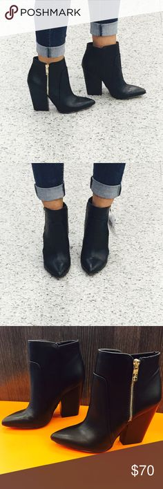 BCBGgeneration booties new with out tag Super cute booties for the fall bought them a half size to big! Only tried them on in the store. I ❤️ them if they were my size I would so keep them ☺️ BCBGeneration Shoes Ankle Boots & Booties