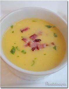 Creme de mandioquinha com bacon Receita: http://www.panelaterapia.com/2010/04/creme-de-mandioquinha-com-bacon.html