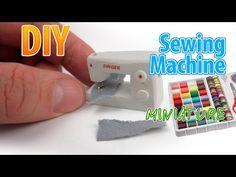 DIY Realistic Miniature Sewing Machine | DollHouse | No Polymer Clay! - YouTube